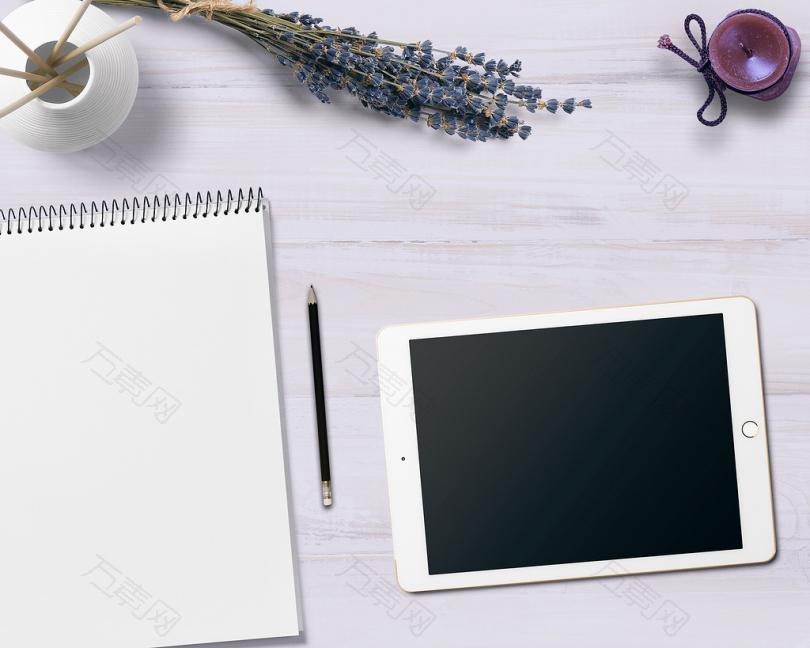 记事本 平板电脑 表 鲜花 蜡烛 装饰 注 书写板 业务 注意 写 纸 在线 网站