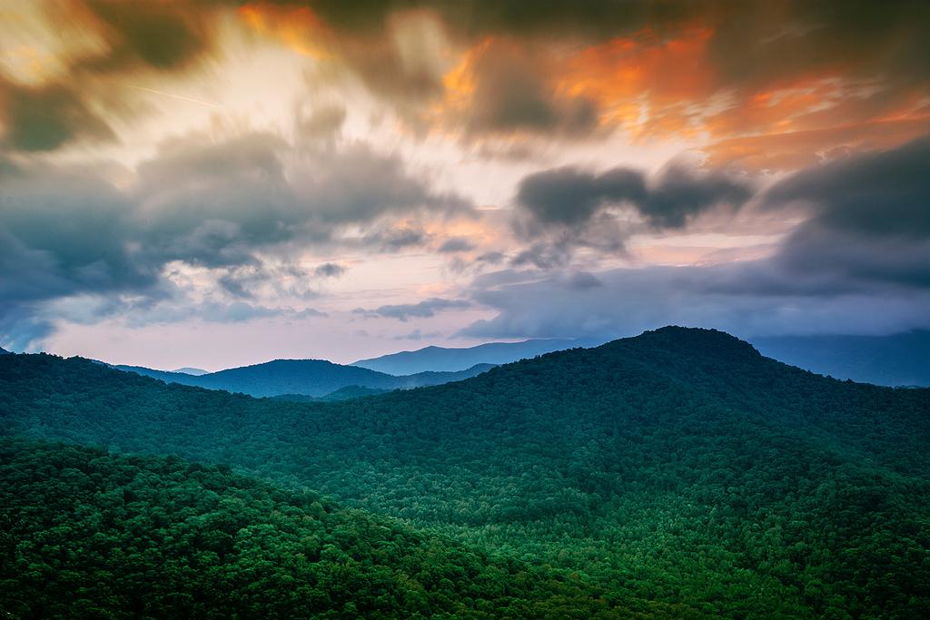 白天绿树山景鸟瞰摄影