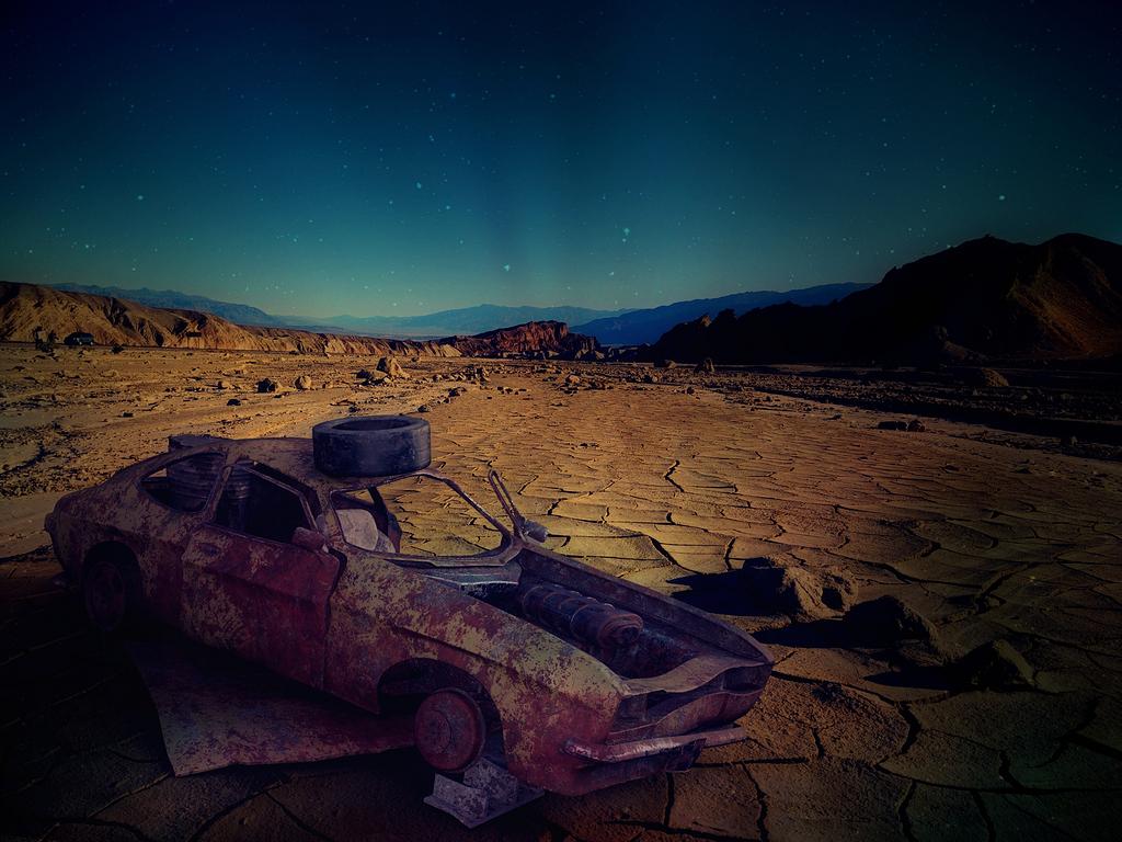 沙漠 汽车残骸 美国 亚利桑那 汽车 残骸 生锈 废钢 景观 过时的 被丢弃 沙漠景观