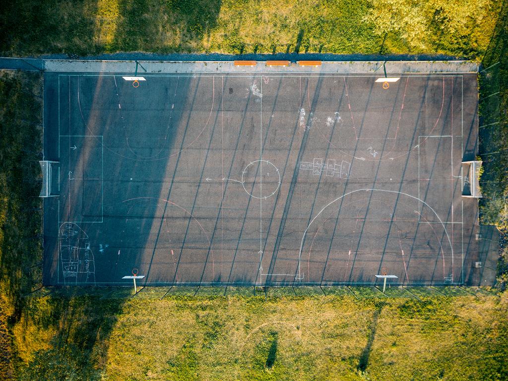 篮球场鸟瞰图