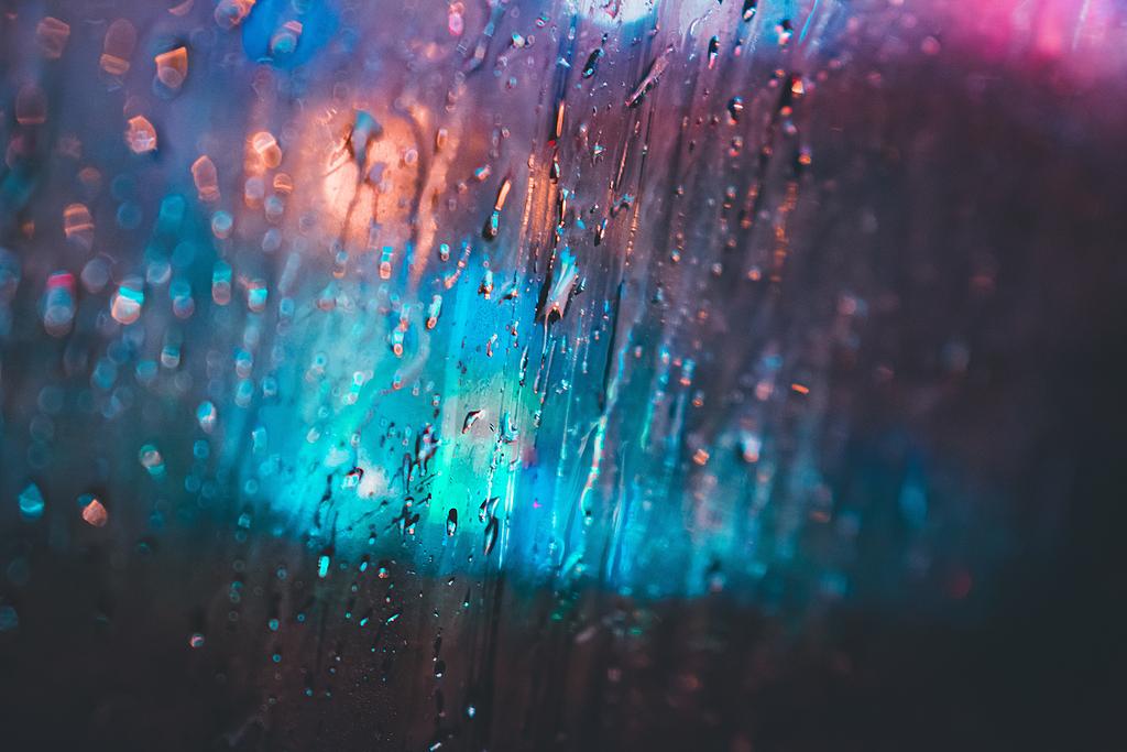 窗户,雨,玻璃,颜色,霓虹灯,模糊,水,滴,湿,抽象,春天,冬天,寒冷,模糊的镜头,焦点,汽车,喜怒无常,墙纸